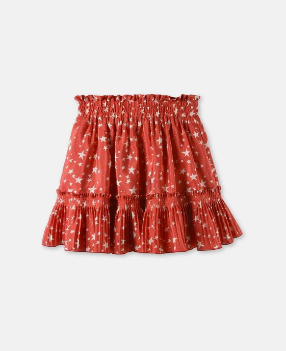 Twinkle Red Star Print Skirt
