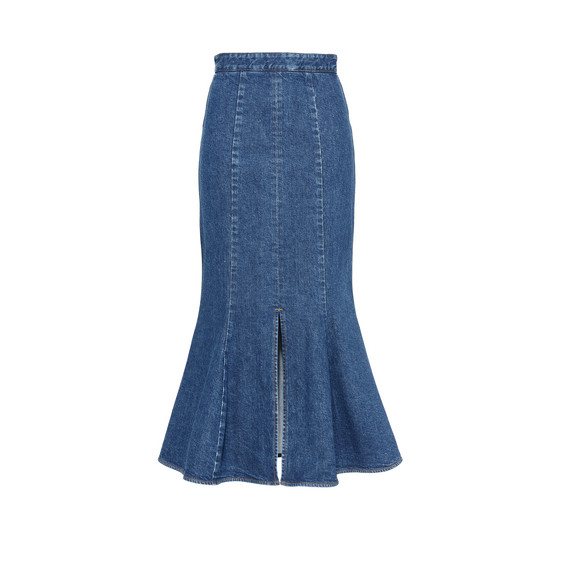 Ivy Organic Cotton Denim Midi Skirt