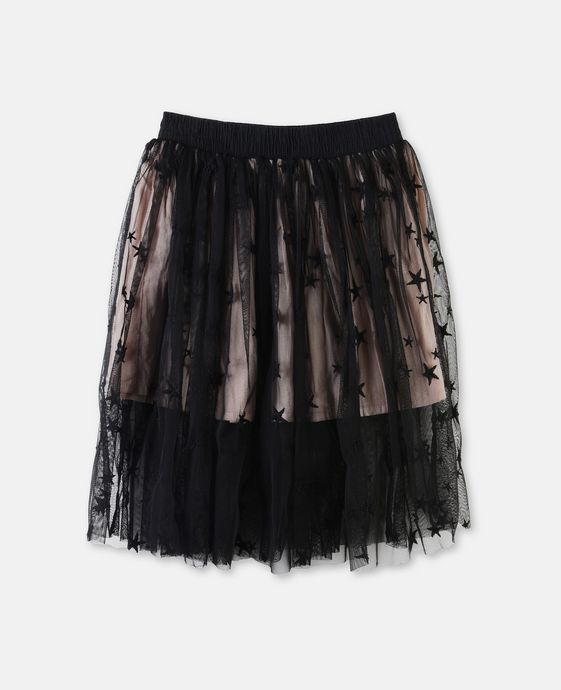 Amalie Black Star Skirt