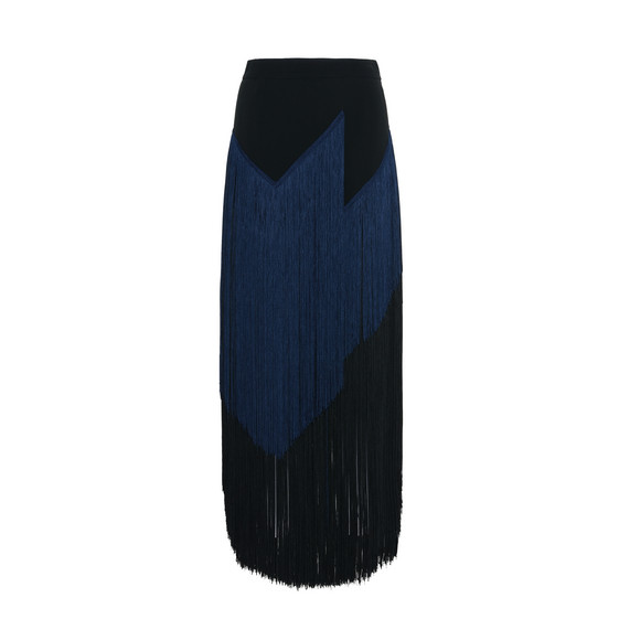 Veronica Black Fringe Skirt