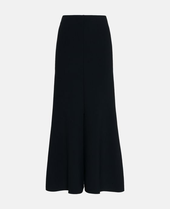 Black Volume Midi Skirt
