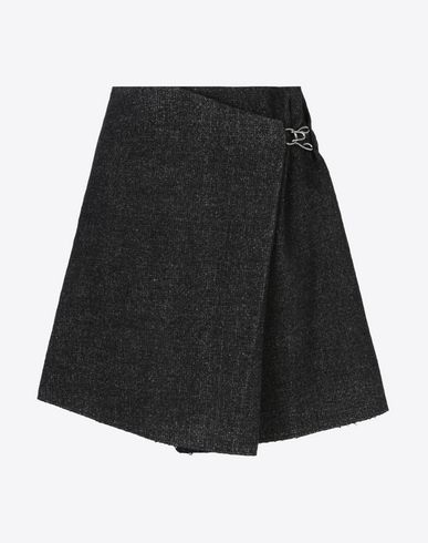 MAISON MARGIELA Mini wrap skirt Knee length skirt D f
