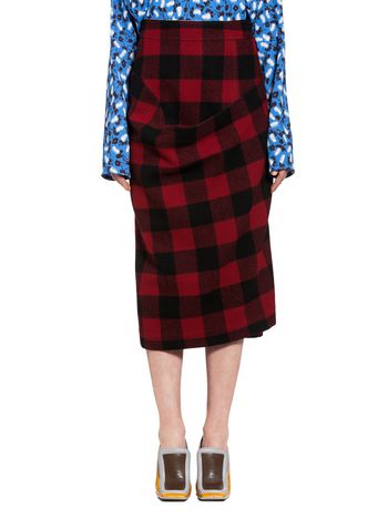 Marni Skirt in wool check Woman