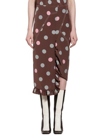 Marni Skirt in silk crepe Blob Woman