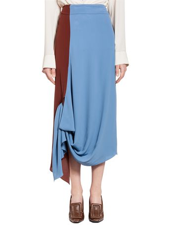 Marni Skirt in washed acetate silk Woman
