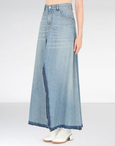 MM6 MAISON MARGIELA Denim skirt D Ankle length denim skirt f