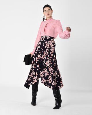 DRACEN long floral print jersey skirt