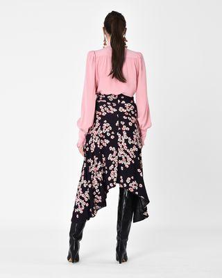 ISABEL MARANT LONG SKIRT Woman DRACEN long floral print jersey skirt  r
