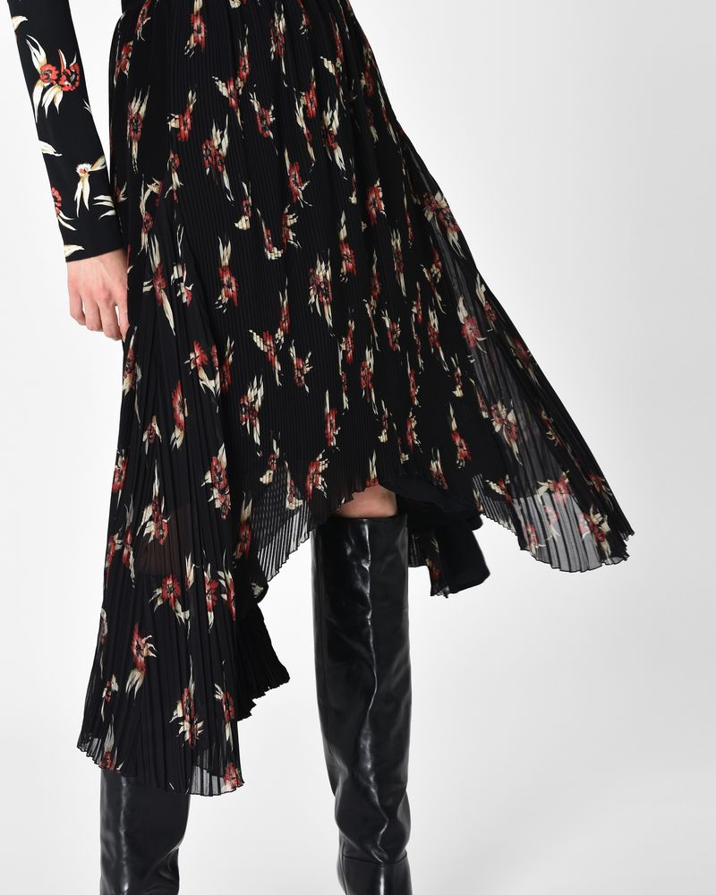 WILNY long floral print pleated skirt   ISABEL MARANT