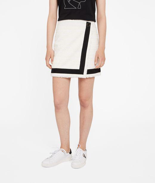KARL LAGERFELD Asymmetric Bouclé Skirt 12_f