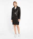 KARL LAGERFELD Leather Skirt W/ Lacing 8_e