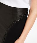 Leather Skirt W/ Lacing