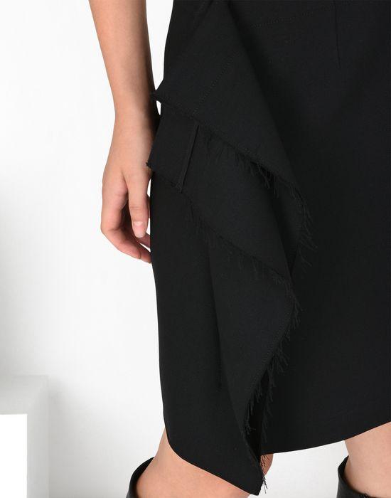 MM6 MAISON MARGIELA Jupe descendant jusqu'au genou avec détail drapé Jupe au genou Femme a