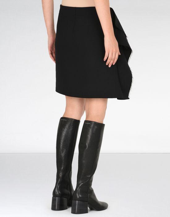MM6 MAISON MARGIELA Jupe descendant jusqu'au genou avec détail drapé Jupe au genou Femme d