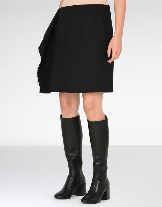 MM6 MAISON MARGIELA Jupe descendant jusqu'au genou avec détail drapé Jupe au genou [*** pickupInStoreShipping_info ***] f