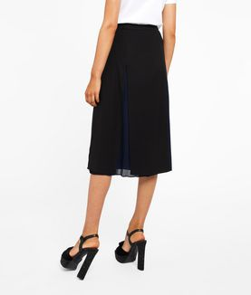 KARL LAGERFELD PLEATED LAYER SKIRT W/ LACING