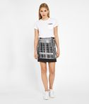 Silver Check Bouclé Skirt