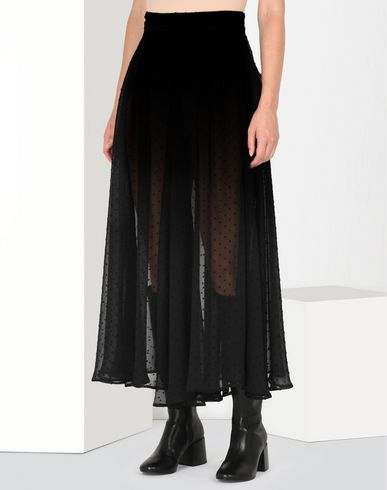 MM6 by MAISON MARGIELA Long skirt D Semi-transparent dotted chiffon skirt f