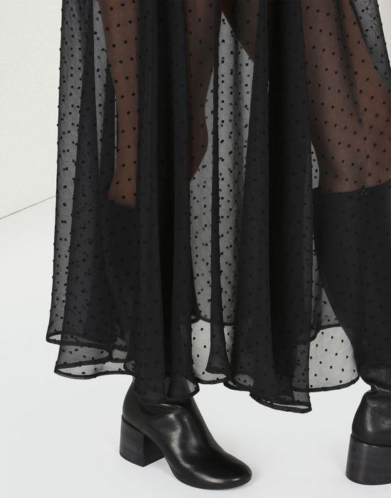 MM6 MAISON MARGIELA Jupe à pois en mousseline semi-transparente Jupe longue D a
