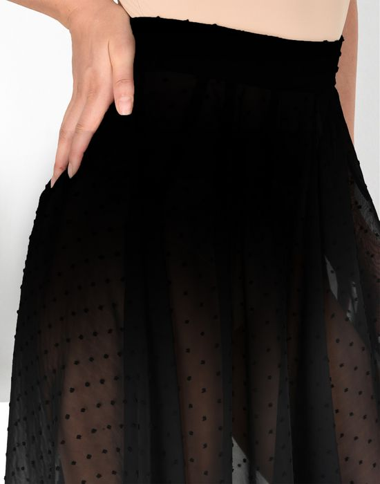 MM6 MAISON MARGIELA Jupe à pois en mousseline semi-transparente Jupe longue D e