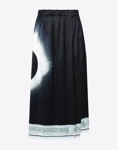MAISON MARGIELA 3/4 length skirt D Eclipse printed midi skirt f