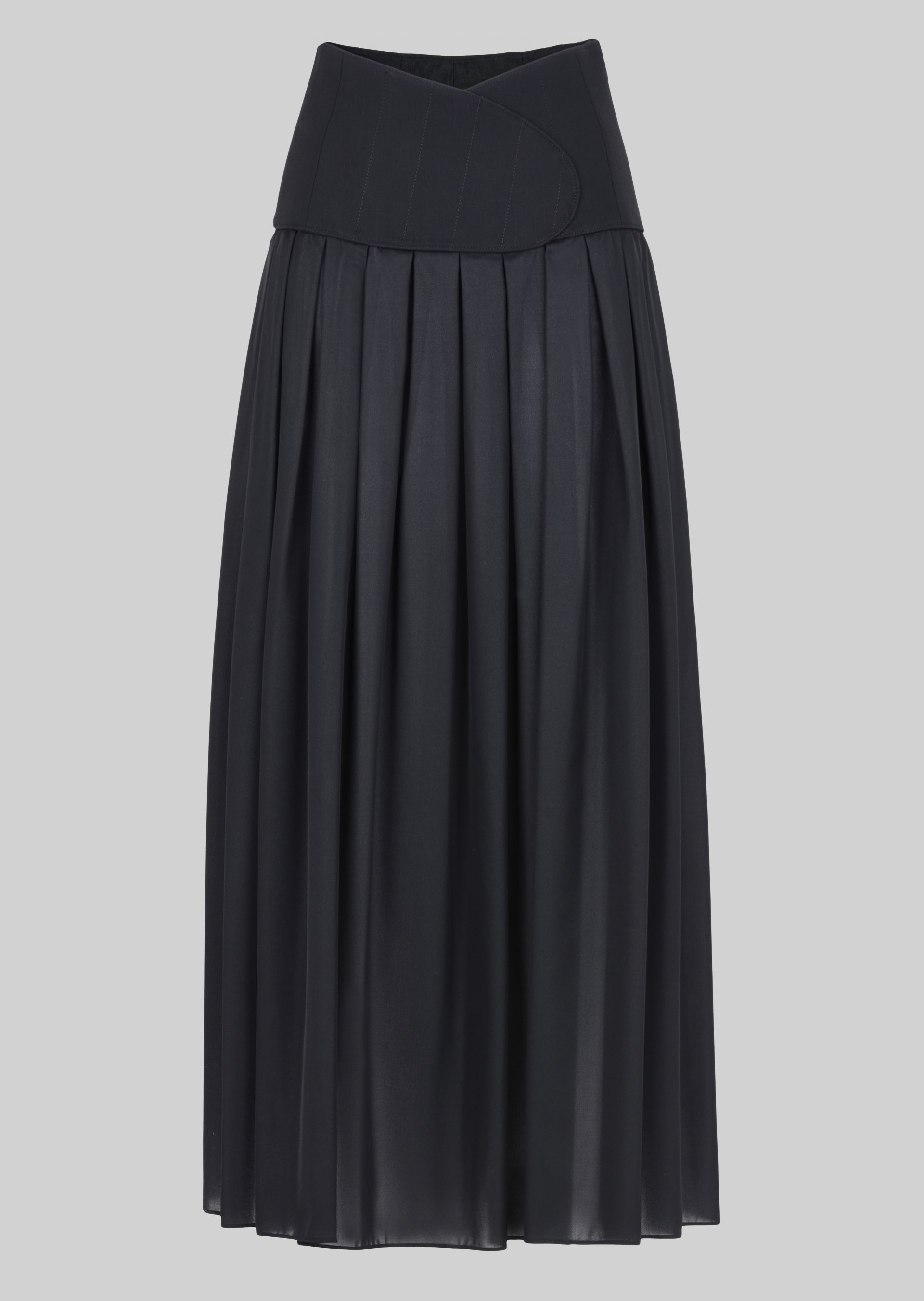 GIORGIO ARMANI LONG SKIRT IN TECHNICAL CRÊPE DE CHINE. Skirt D r