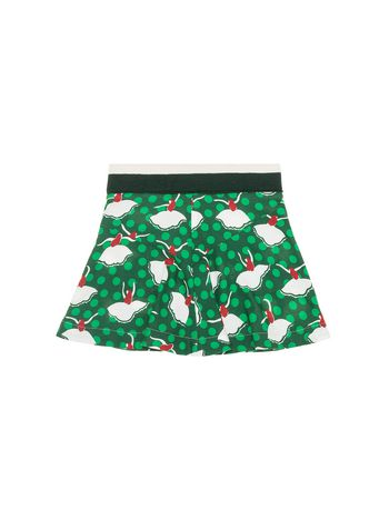 Marni SKIRT IN FLANNEL WITH PIROUETTE PRINT Woman