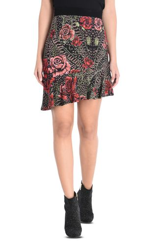 JUST CAVALLI Skirt D Printed skirt with diagonal cut f