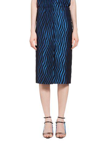 Marni Skirt in striped cloqué Woman