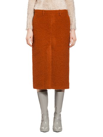 Marni Skirt in ratinee silk wool Woman