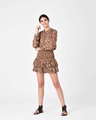 ISABEL MARANT ÉTOILE SHORT SKIRT Woman NAOMI ruffle skirt r