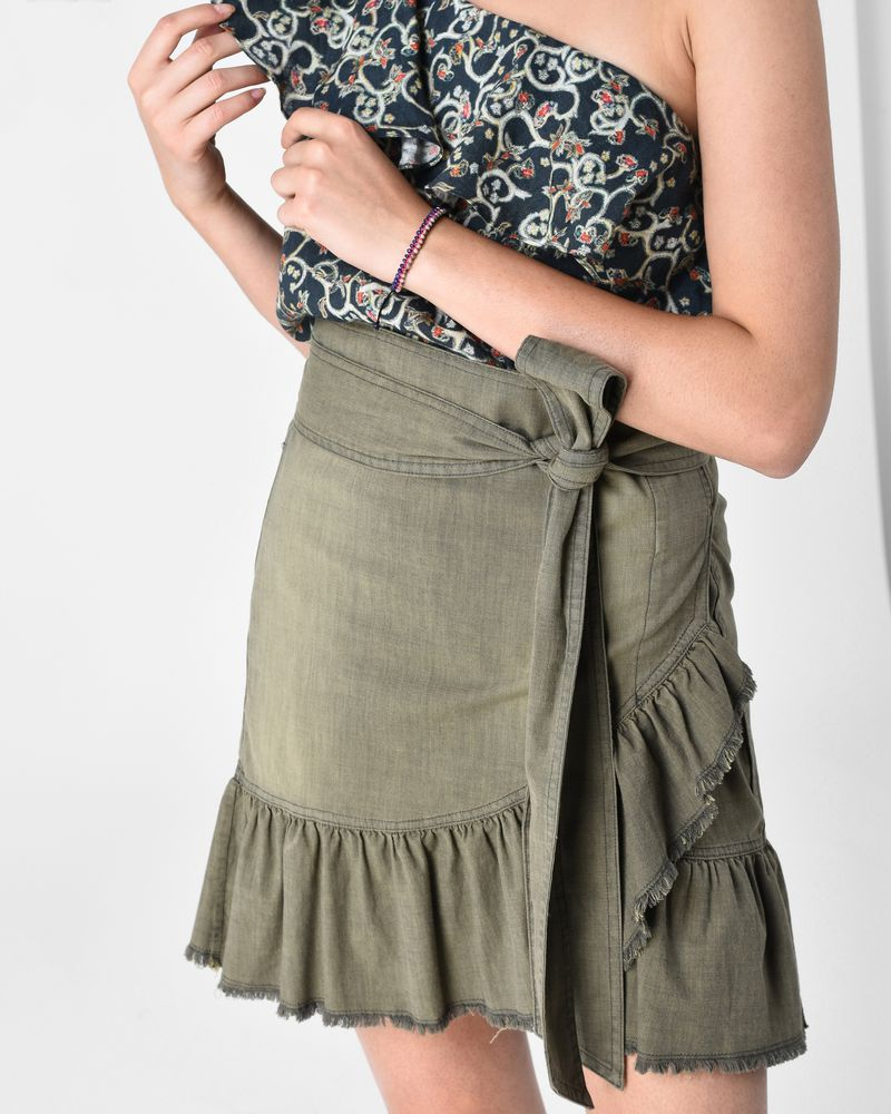 LINDY chambray skirt ISABEL MARANT ÉTOILE