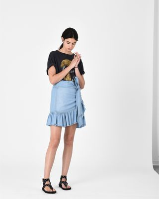 LINDY chambray skirt