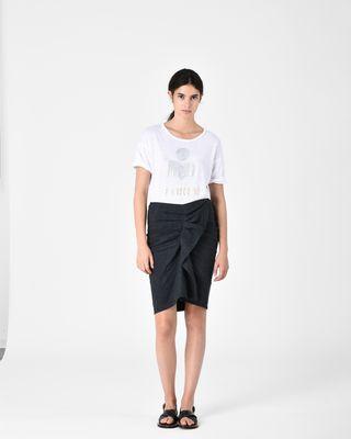 ORNELA belted skirt