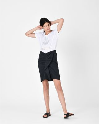 ISABEL MARANT ÉTOILE SHORT SKIRT D ORNELA belted skirt r