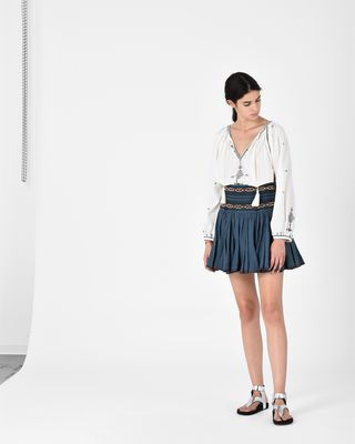 BREEDA embroidered skirt