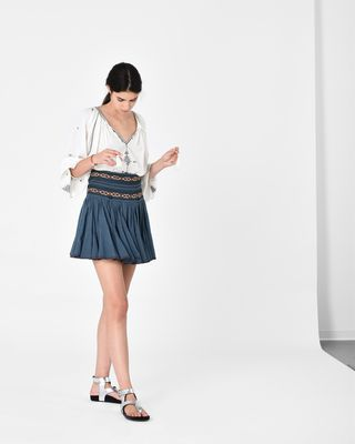 ISABEL MARANT ÉTOILE SHORT SKIRT D BREEDA embroidered skirt r