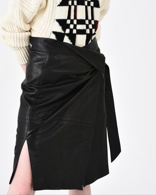 ISABEL MARANT MIDI SKIRT Woman BREYSON leather skirt r