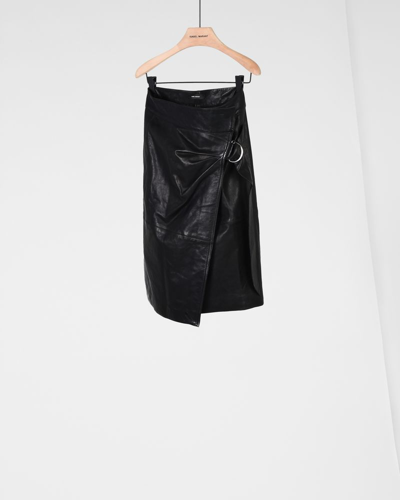 BREYSON leather skirt ISABEL MARANT