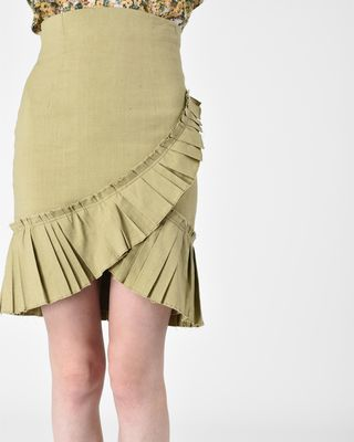 ISABEL MARANT MIDI SKIRT Woman REBEL skirt in stretch linen r