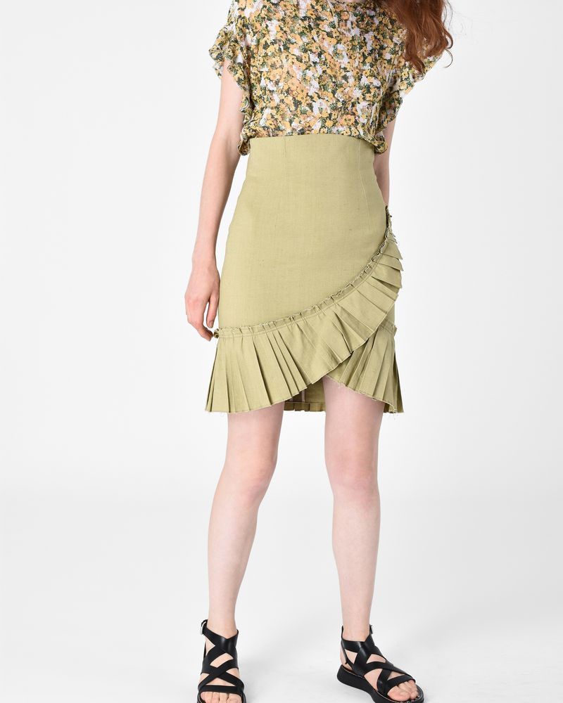 REBEL skirt in stretch linen ISABEL MARANT