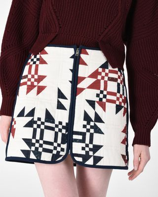 ISABEL MARANT SHORT SKIRT D LICKLY quilted skirt r