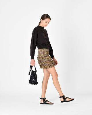 ISABEL MARANT ÉTOILE SHORT SKIRT D EARLEY short smocked skirt r
