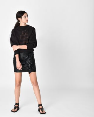 GRITANNY leather skirt
