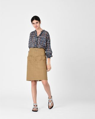 ISABEL MARANT ÉTOILE MIDI SKIRT Woman LANALIE cotton skirt r