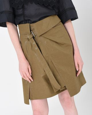 ISABEL MARANT SHORT SKIRT Woman HENORA waxed linen skirt r