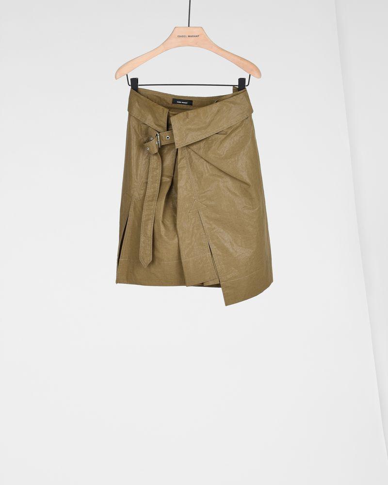 HENORA waxed linen skirt ISABEL MARANT