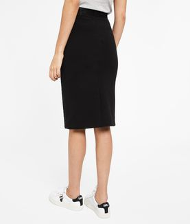 KARL LAGERFELD TEXTURED SPARKLE PENCIL SKIRT