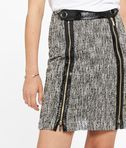 KARL LAGERFELD Coated Bouclé Skirt W/ Zippers 8_e