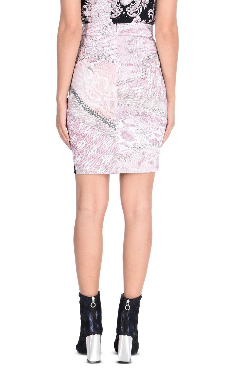 JUST CAVALLI Mini skirt in Cracking Beauty print Skirt Woman d